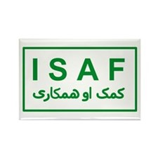 ISAF - Green (2) Rectangle Magnet