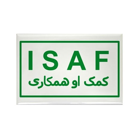 ISAF - Green (2) Rectangle Magnet