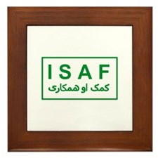 ISAF - Green (2) Framed Tile