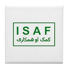 ISAF - Green (2) Tile Coaster