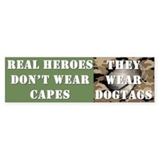 """Real Heroes"" Car Sticker"