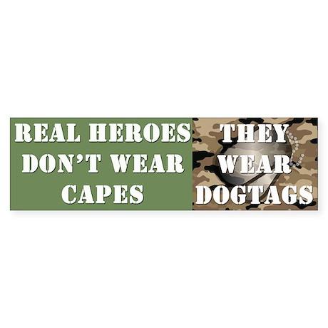 """Real Heroes"" Sticker (Bumper)"