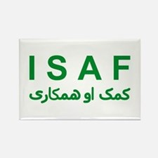 ISAF - Green (1) Rectangle Magnet