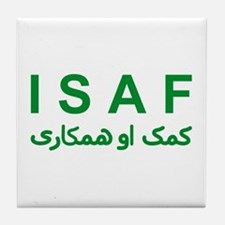 ISAF - Green (1) Tile Coaster