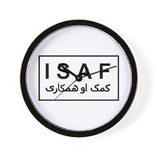 ISAF - B/W (2) Wall Clock