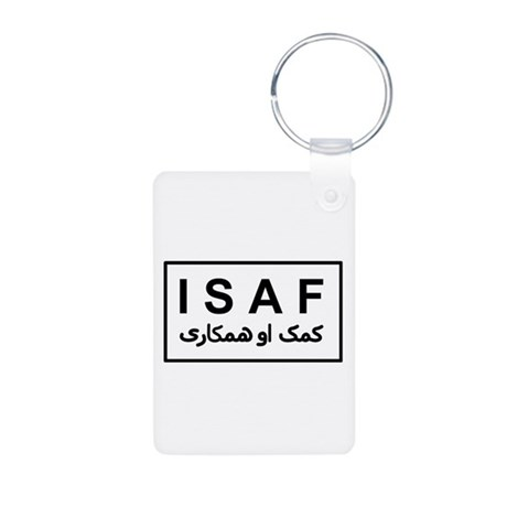 ISAF - B/W (2) Aluminum Photo Keychain