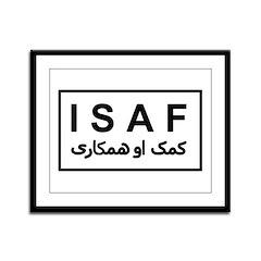 ISAF - B/W (2) Framed Panel Print