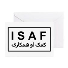 ISAF - B/W (2) Greeting Cards (Pk of 10)