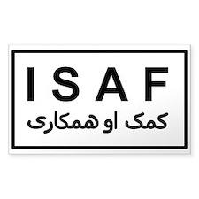 ISAF - B/W (2) Decal