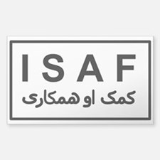 ISAF - B/W (2) Sticker (Rectangle)
