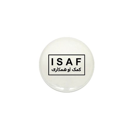 ISAF - B/W (2) Mini Button