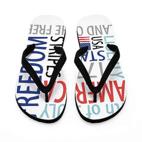 Independence Day Flip Flops