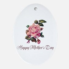 Mother's Rose Ornament (Oval)