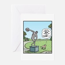 Dog and Discus Thrower Greeting Cards (Pk of 10)