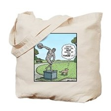 Dog and Discus Thrower Tote Bag