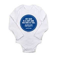 Unique Police k9 Long Sleeve Infant Bodysuit