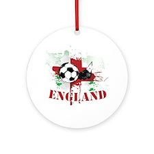England football Soccer Ornament (Round)