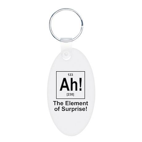 Ah! Aluminum Oval Keychain