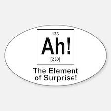 Ah! Sticker (Oval)
