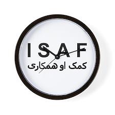 ISAF - B/W (1) Wall Clock