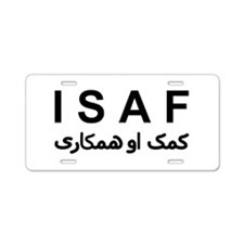 ISAF - B/W (1) Aluminum License Plate