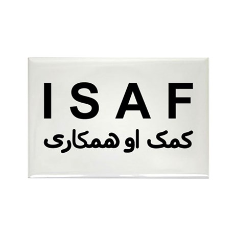 ISAF - B/W (1) Rectangle Magnet