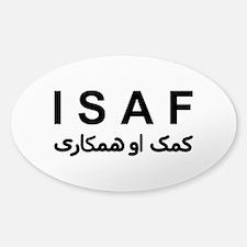 ISAF - B/W (1) Sticker (Oval)