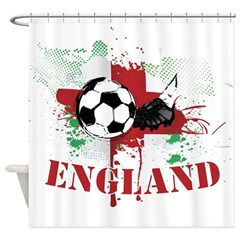 England football Soccer Shower Curtain