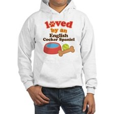 English Cocker Spaniel Dog Gift Jumper Hoody