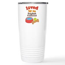 English Foxhound Dog Gift Travel Mug