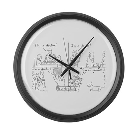 Veterinary Student Graduation 2 Large Wall Clock