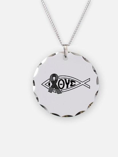 Unique Ichthys Necklace Circle Charm