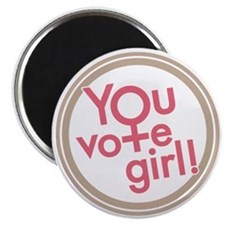 You vote girl! Magnet