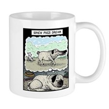 When Pugs dream Small Mug