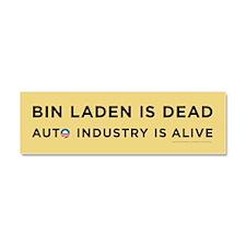 Yellow Bin Laden is dead Car Magnet 10 x 3
