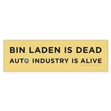 Yellow Bin Laden is dead Bumper Sticker