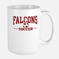 Falcons Soccer Large Mug