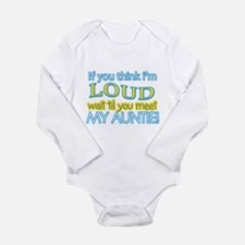 LOUD AUNTIE Long Sleeve Infant Bodysuit