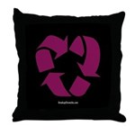 Recycled Heart Throw Pillow