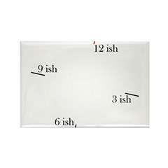 Fashionable late Rectangle Magnet (10 pack)