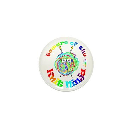 Beware of the Knit Ninja Mini Button (100 pack)