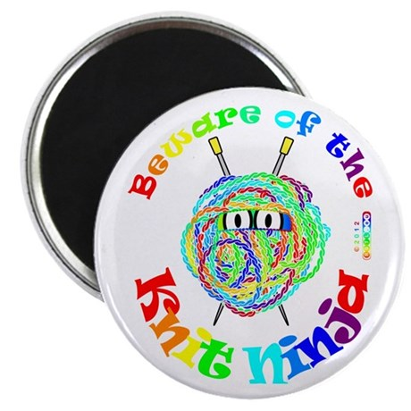 "Beware of the Knit Ninja 2.25"" Magnet (10 pack)"