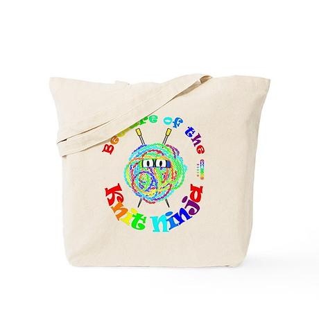 Beware of the Knit Ninja Tote Bag