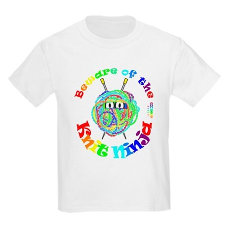 Beware of the Knit Ninja Kids Light T-Shirt