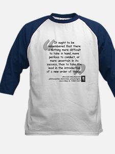 Machiavelli Lead Quote Kids Baseball Jersey
