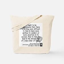 Machiavelli Lead Quote Tote Bag