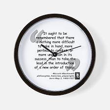 Machiavelli Lead Quote Wall Clock