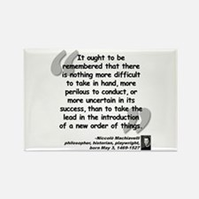 Machiavelli Lead Quote Rectangle Magnet