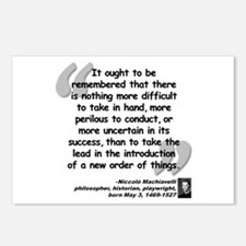 Machiavelli Lead Quote Postcards (Package of 8)