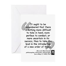 Machiavelli Lead Quote Greeting Card